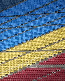 Free Color-coded Spectator Seats Royalty Free Stock Photos - 19028908