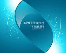 Free Blue Light Wave Vector Background Royalty Free Stock Photo - 19028935