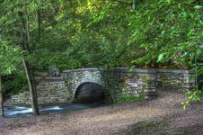 Free Brick River Bridge In Hdr Royalty Free Stock Photo - 19029155