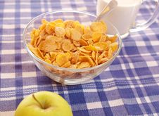 Free Cornflakes And Milk Royalty Free Stock Image - 19029176
