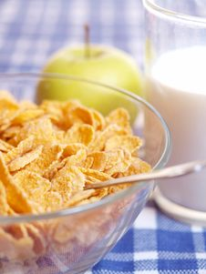 Free Cornflakes And Milk Stock Image - 19029201