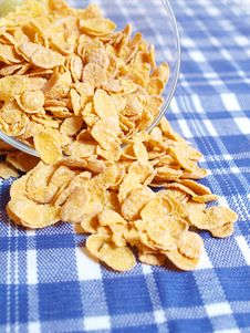 Free Cornflakes On The Table Stock Image - 19029241
