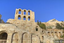 Odeon Of Herodes Atticus ,Athens Stock Photos