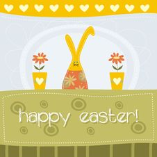 Free Cute Easter Card Royalty Free Stock Photos - 19029658