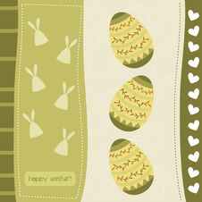 Free Cute Easter Card Royalty Free Stock Photos - 19029668