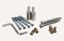 Set Of Modern Bolts And Screws Stock Image