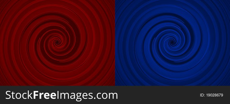 Set of two whirls