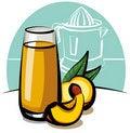 Free Fresh Peach Juice Stock Image - 19030781