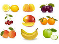 Free Group With Different Sorts Of Fruit. Stock Photos - 19038313