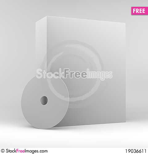 Free Blank Product Box And A CD Stock Image - 19036611
