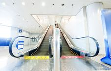Free People At The Airport Escalator Stock Photography - 19030202