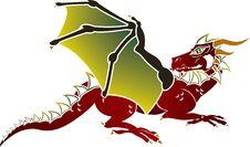Free Traditional European Dragon Stencil Stock Photo - 19030690