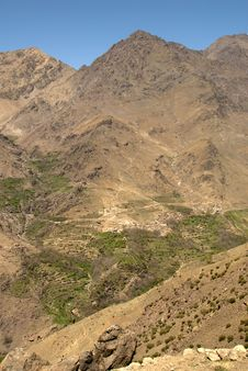 Berber Village In The High Atlas Montains Stock Image