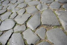 Free Ancient Pavement In Rome, Stock Image - 19031081