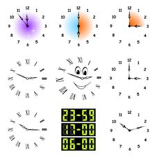 Free Funny Clocks. Stock Image - 19031151