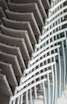 Free High Stacking Wicker Chairs Stock Image - 19032291