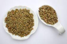 Free Green Lentils Royalty Free Stock Photo - 19032485