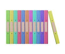 12 Folders Colors Stock Image