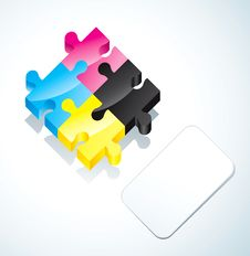 Free Puzzle And Paper Card Stock Photo - 19036990