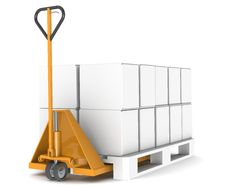 Free Hand Truck And Pallet Stock Photos - 19038203