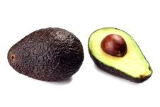 Avocado Whole And Half Royalty Free Stock Image