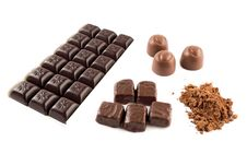 Free Group Of Chocolate Products Royalty Free Stock Photo - 19039665