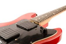 Red Guitar Royalty Free Stock Photos