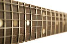 Guitar Fretboard Stock Image