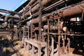 Free Rusty Disused Steel Plant Pipes Stock Image - 19040111