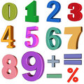 Free 3D Numbers Stock Photography - 19040892