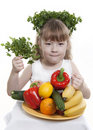 Free Vegetables And Fruit  Of Children. Stock Images - 19044314