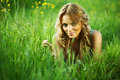 Free Blonde On Grass Royalty Free Stock Photo - 19046325