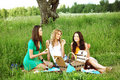 Free Girlfriends On Picnic Royalty Free Stock Photo - 19046395