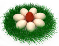Free 3d Easter Eggs Royalty Free Stock Image - 19048706