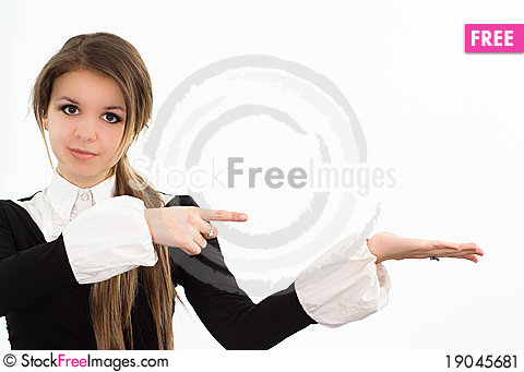 Free Woman In A Black Business Suit Stock Image - 19045681