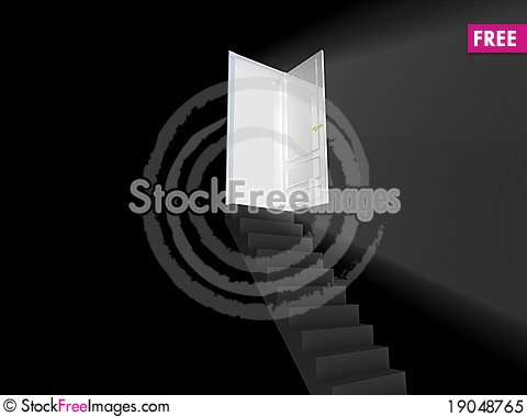 Free Stairway To The Light. Royalty Free Stock Photo - 19048765