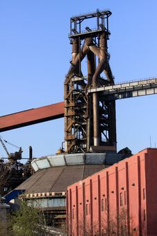 Free Disused Steelmaking Plant In The Blue Sky Stock Photo - 19040180