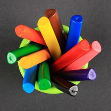 Crayons In The Jar Stock Image