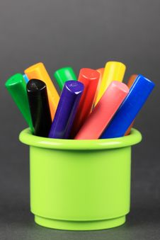 Crayons In The Jar Royalty Free Stock Photo