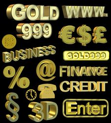 Gold Symbols Stock Images