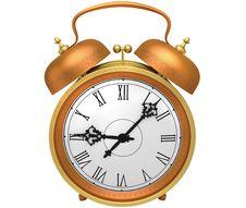 Free Bronze Alarm Clock Stock Image - 19041151