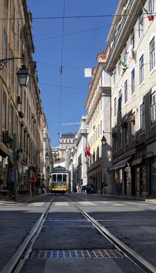 Free Lisbon Tram Royalty Free Stock Photography - 19041337
