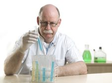 Free Scientist Working With Chemicals Stock Images - 19041364