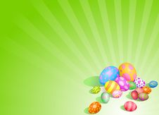Free Beautiful Easter Eggs Background Royalty Free Stock Photography - 19041427