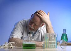 Free Scientist Working Witch Chemicals Royalty Free Stock Image - 19041436