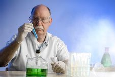 Free Scientist Working With Chemicals Stock Photos - 19041473