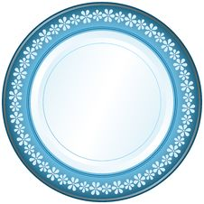 Free White And Blue Plate Royalty Free Stock Image - 19041546