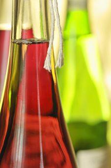 Still-life With Wine Bottles Stock Image