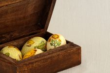 Free Easter Eggs In Wood Box Royalty Free Stock Image - 19041866