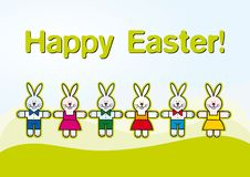 Free Paper Cut Easter Rabbits, Kids Illustration Royalty Free Stock Photography - 19042007